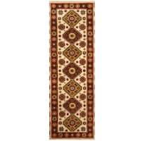 Handmade Herat Oriental Indo Hand-knotted Tribal Kazak Wool Runner (2'8 x 8'3)