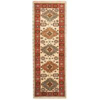 Handmade Herat Oriental Indo Hand-knotted Tribal Kazak Wool Runner (2'10 x 8'4)