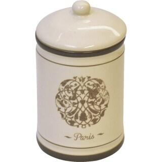 Paris Romance Dolomite Bathroom Canister Cotton Box