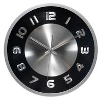 11.5 inch Silver Wall Clock Titanium by Infinity Instruments