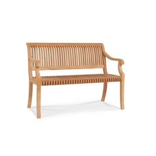 Palm 2 Seat Outdoor Teak Wood Bench