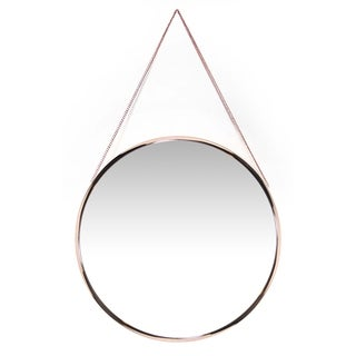 17.5 inch Rose Gold Wall Mirror Franc by Infinity Instruments - Gold/Copper