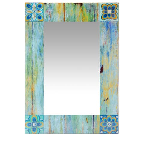 27.5 Inch Large Wall Mirror Shabby Chic by Infinity Instruments - N/A
