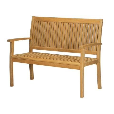 Buckingham 3 Seat Outdoor Teak Wood Bench