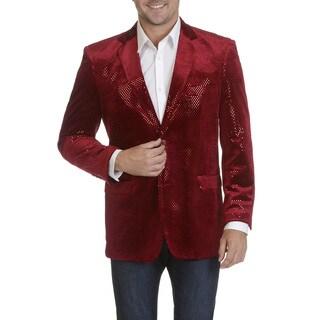 Blu Martini Men's Novelty Embellished Sportscoat