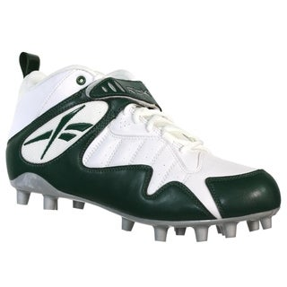 Reebok Pro All Out One Mid MP Mens Football Molded Cleats White Green