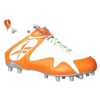 Reebok Mens Pro All Out One Mid MP White Orange Molded Football Cleat (4 options available)