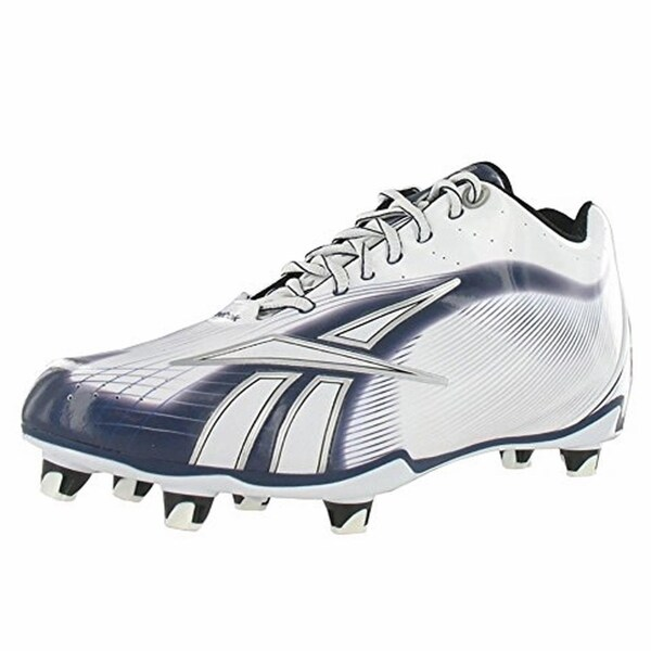 2cbb45fce2e Shop Reebok NFL Burner SPD LT LO M4 Mens Football Cleats White Navy - Free  Shipping Today - Overstock - 18078021