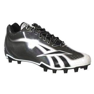 Reebok NFL Burner Speed LT 5/8 M4 Molded Football Cleats Black White