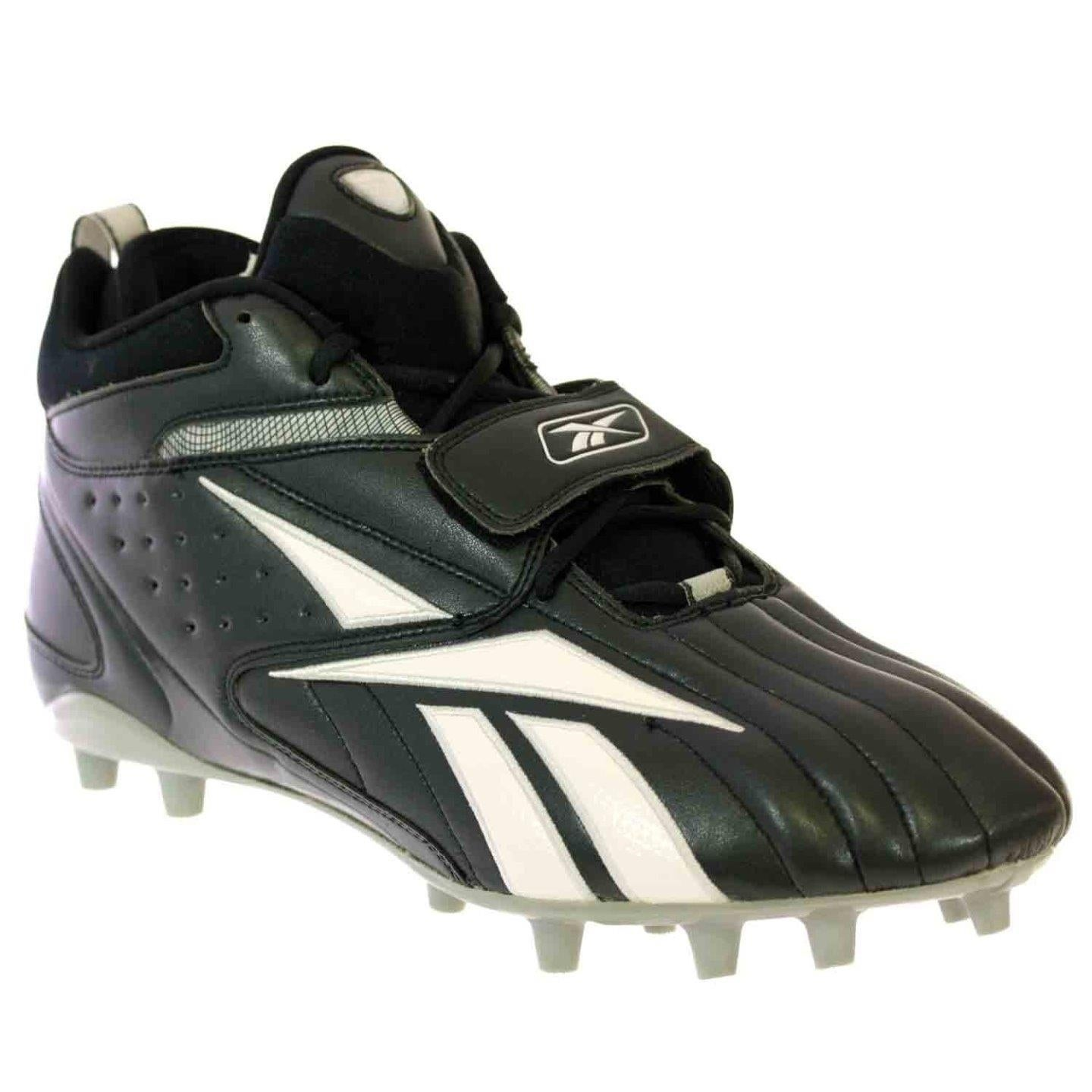 87654d87d Shop Reebok PRO FULL BLITZ STRAP MP Mens Football Cleats Black White - Free  Shipping Today - Overstock - 18078024