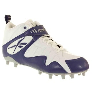 Reebok PRO ALL OUT ONE MID MP Mens Football Molded Cleat Royal White