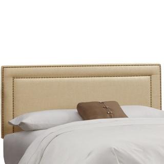 Skyline Furniture Nail Button Headboard in Linen