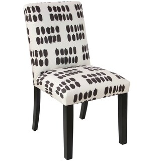 Skyline Furniture Inked Dot Cream Cotton/Linen Dining Chair