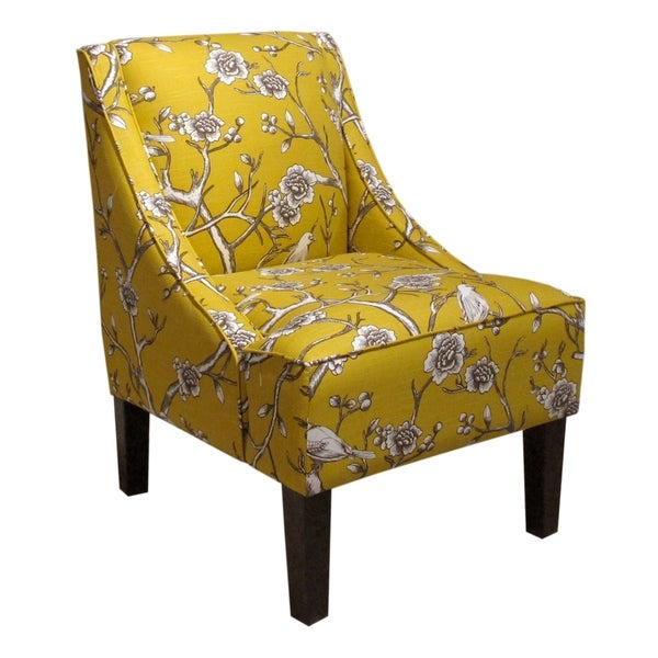 Superbe Skyline Furniture Accent Chair In Vintage Blossom Citrine