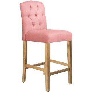 Skyline Furniture Tufted Bar stool in Linen