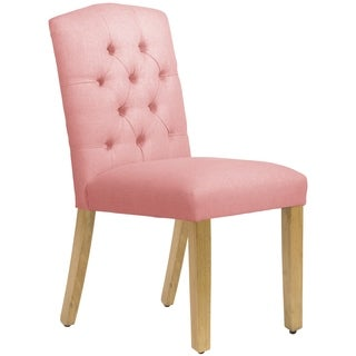 Skyline Furniture Tufted Dining Chair in Linen