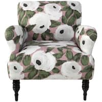Skyline Furniture Accent Chair in Bloomsbury Rose Blush Ivy