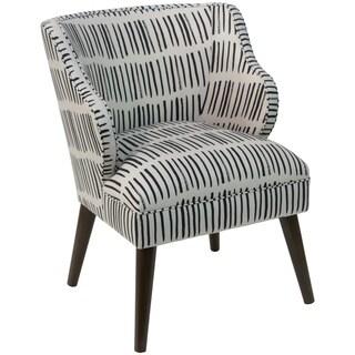 Skyline Furniture Modern Accent Chair in Dash Black White