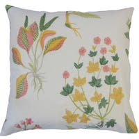 Wyeth Floral Down Filled Throw Pillow in Daffodil