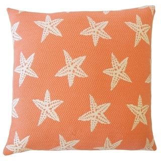 Wilf Coastal Down Filled Throw Pillow in Firecracker