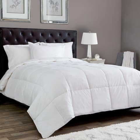 Silky Soft Lightweight White Down Alternative Comforter