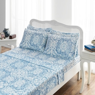 Ibiza Sateen Sheet Set, Blue