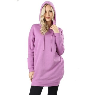 JED Women's Comfy Fit Hooded Pull-Over Tunic Sweater with Pockets (More options available)