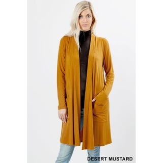 JED Women's Long Sleeve Cardigan with Side Pockets