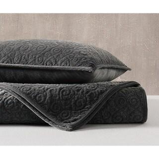 Charisma Regent Luxury Velvet Quilted Coverlet