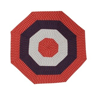 Country Braid 6' Octagonal - Americana Stripe