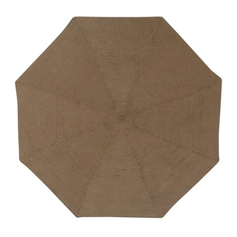 Country Braid 6' Octagonal - Cocoa Solid