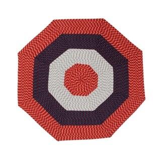 Better Trends Americana Stripe Country Braid Octagonal Rug (8' x 8')