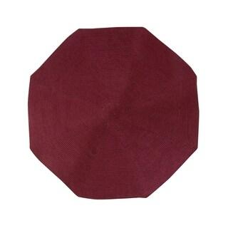 Country Braid 6' Octagonal - Burgundy Solid