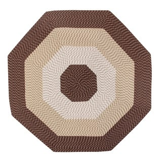 Country Braid 6' Octagonal - Brown Stripe