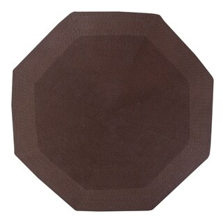 Country Braid 8' Octagonal - Brown Solid - 6'