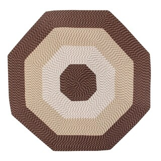 Better Trends Country Braid Brown Polypropylene Octagonal Rug (8')