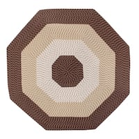 Country Braid 8' Octagonal - Brown Stripe - 6'