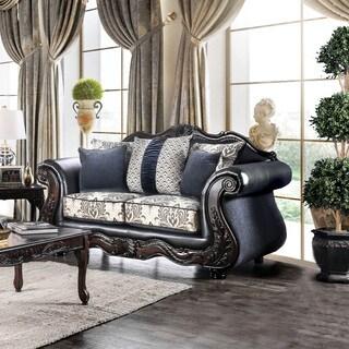 Furniture of America Klenwood Traditional Damask Upholstered Loveseat