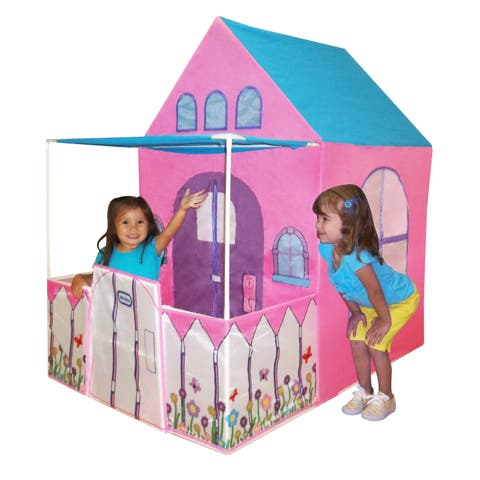 Playhouse 4 ft. Victorian-style with Fenced Patio (As Is Item)