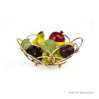 Mind Reader Modern Rose Gold Fruit and Vegetable Bowl
