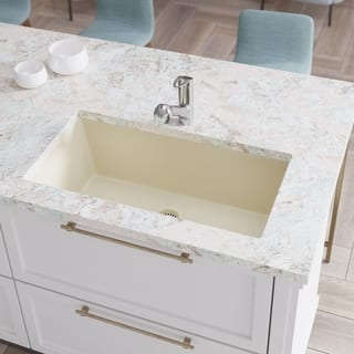 Round kitchen sinks for less overstock r3 1006 single bowl undermount composite granite sink grid and matching colored flange workwithnaturefo