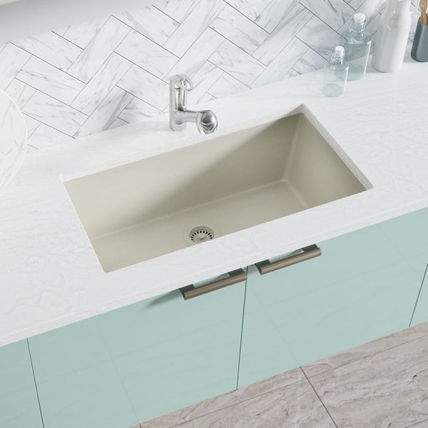 Awesome 824 White D Bowl Trugranite Sink