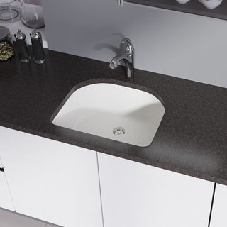 R3-1005 D-Bowl Trugranite Sink, Grid, and Matching Colored Flange