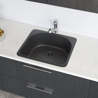R3-2005 D-Bowl Trugranite Sink, Grid, and Matching Colored Flange