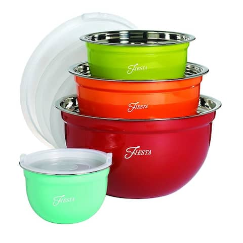 Fiesta 8 Piece Mixing Bowl Set with Lids