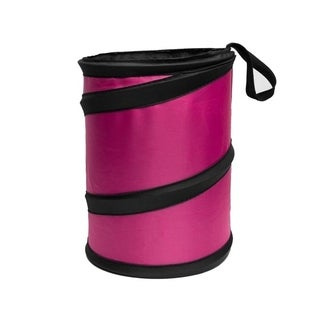 FH Group Car Garbage Trash Can FH1120PINK Collapsible and Compact Size Small