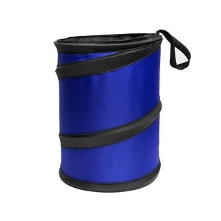 FH Group Car Garbage Trash Can FH1120BLUE Collapsible and Compact Size Small