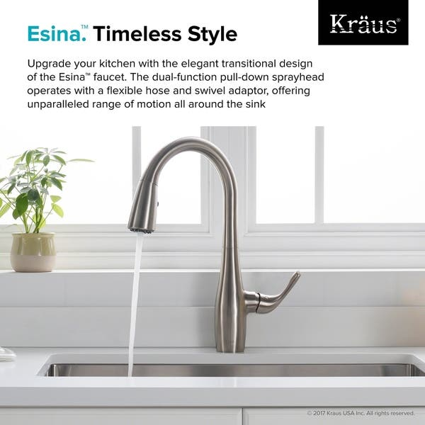Shop Kraus KPF-1670 Esina 1-Handle 2-Function Pull Down ...