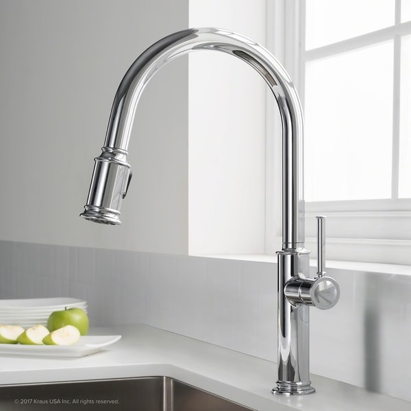 Etonnant KRAUS Sellette Single Handle Pull Down Kitchen Faucet With Dual Function  Sprayhead