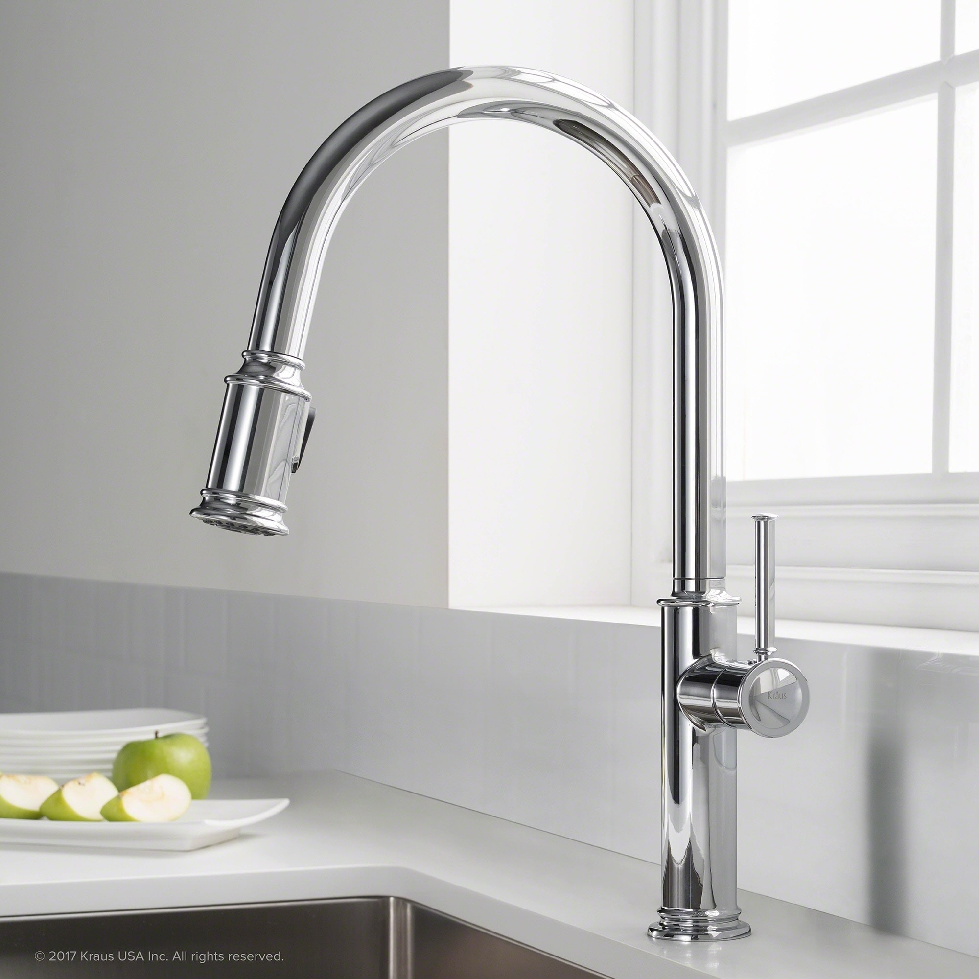 Kraus KPF-1680 Sellette 1-Handle 2-Function Sprayhead Pull Down Kitchen  Faucet